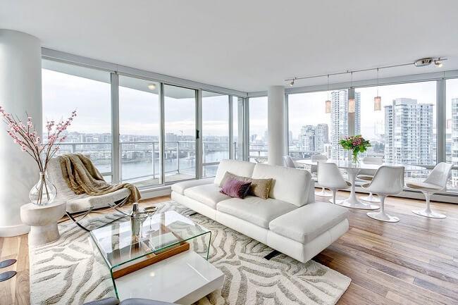 Elegant Living Room In A Modern Condo Unit