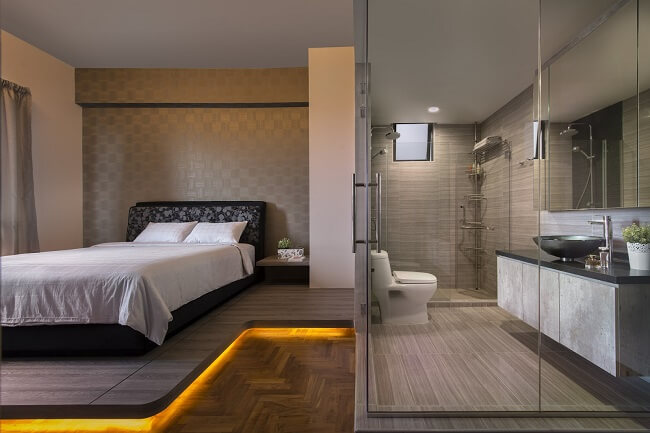Impressive Modern Bedroom And Bath