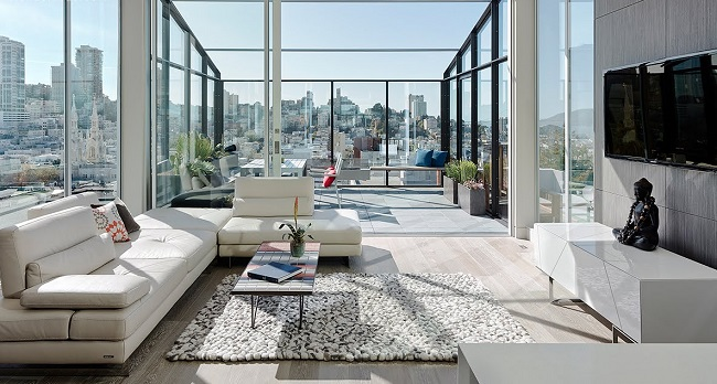 Light And Airy Modern Condo Living Room