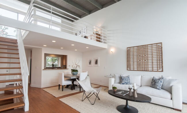 Modern And Cozy Living Room In A Loft Style Condominium