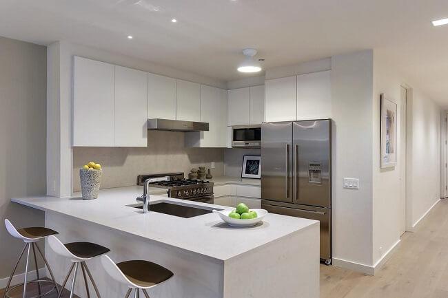 Modern And Luxurious Condo Kitchen