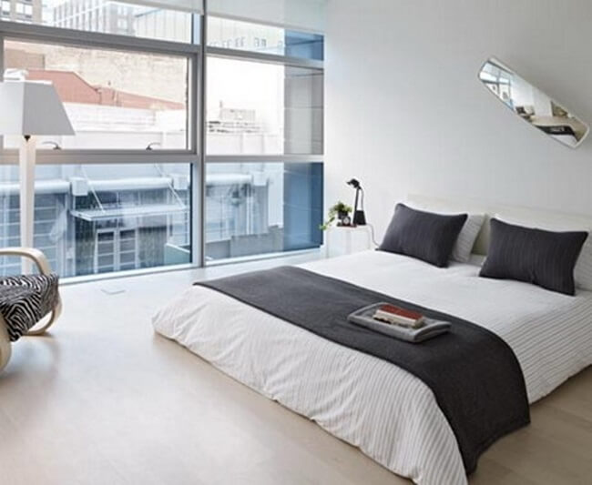 Modern Bedroom In A High Rise Condo