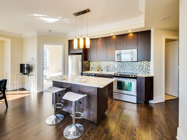 Modern Contemporary Condo Kitchen