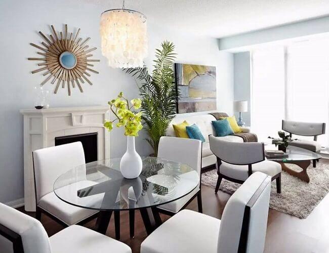 Modern Dining And Living Room In A Studio Condominium