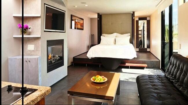Modern Elevated Bedroom In A Studio Type Condo
