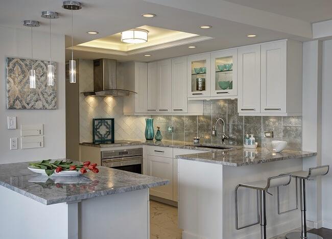 Sleek And Modern Kitchen In A Condo
